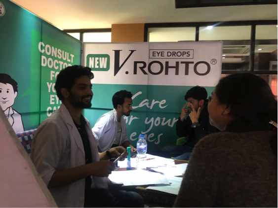New V.Rohto  Free Eye Screening Camp